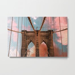 Brooklyn Bridge New York City Metal Print