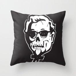 Skull Sanders Throw Pillow