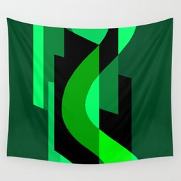 SUISSE - Art Deco Modern: NIGHT VISION Wall Tapestry