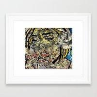 lichtenstein Framed Art Prints featuring I LOVE LICHTENSTEIN POLLOCK by JANUARY FROST