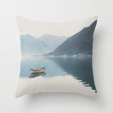 boat reflections ... Throw Pillow