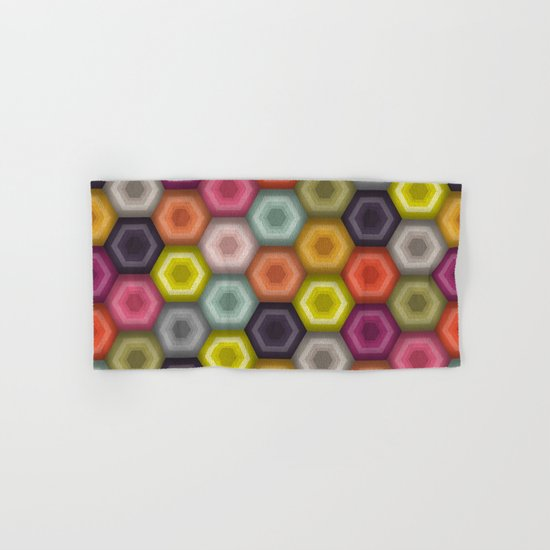 crochet honeycomb Hand & Bath Towel