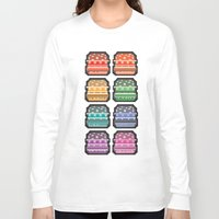8bit Long Sleeve T-shirts featuring 8bit burger by thev clothing