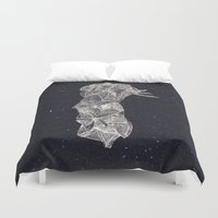 pen Duvet Covers featuring - old pen for souvenirs - by Magdalla Del Fresto