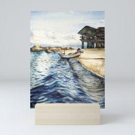 Ocean of Koh Tao island, Thailand Mini Art Print