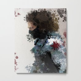 Winter Soldier Water Colour Metal Print