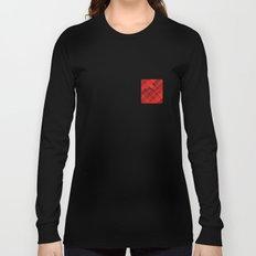 Plaid Pocket - Red Long Sleeve T-shirt