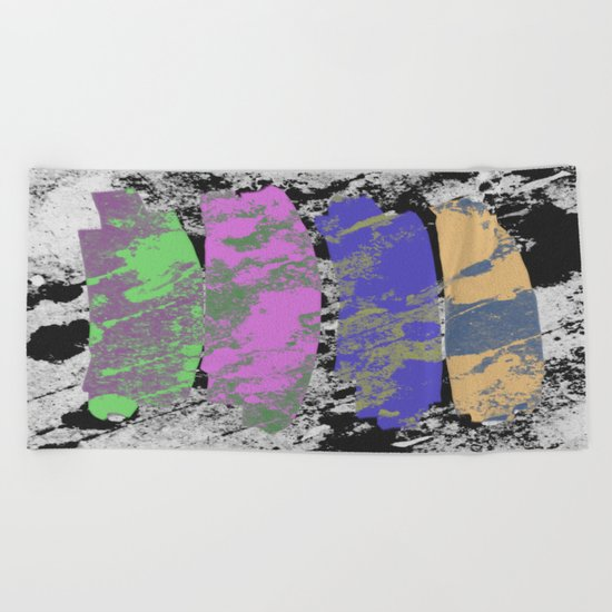 All 4 One - Abstract, textured artwork Beach Towel