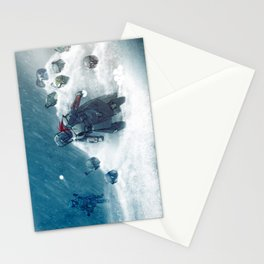 Snow fight Stationery Cards