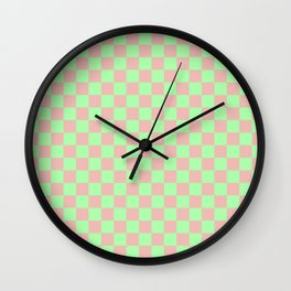 Checkered Pattern I Wall Clock
