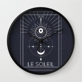 Le Soleil or The Sun Tarot Wall Clock