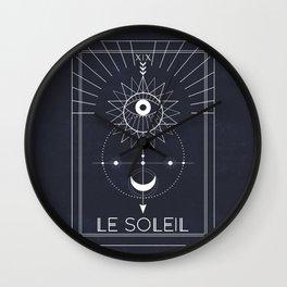Le Soleil or The Sun Tarot Wall Clock