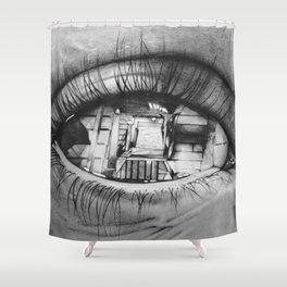 Vertigo effect Shower Curtain