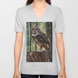 Majestic Owl Stare Unisex V-Neck