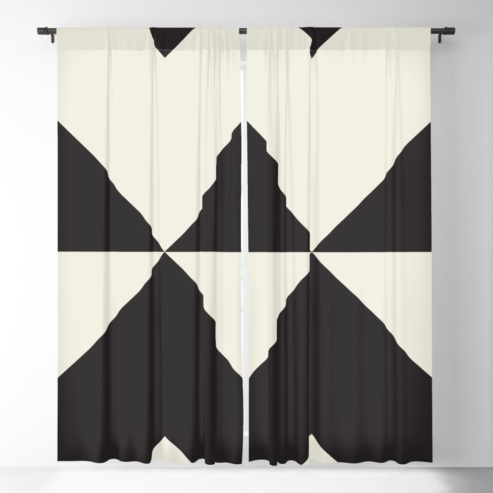 Split X Black Blackout Curtain