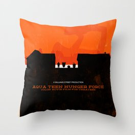 Aqua Teen Hunger Force Colon Movie Film For Theaters Throw Pillow
