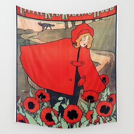 john hassall vintage english poster - Little red riding hood Wall Tapestry