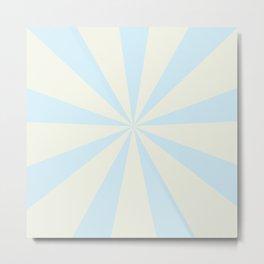 Light Blue Solar Flare Circus Poster Metal Print