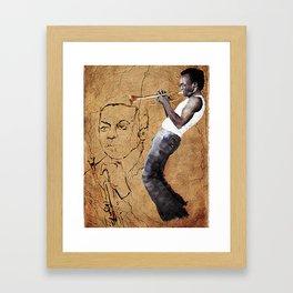 The Man With the Horn Framed Art Print