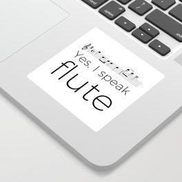 Do you speak flute? Sticker
