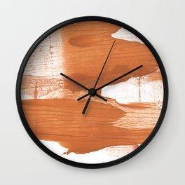 Peru hand-drawn wash drawing texture Wall Clock