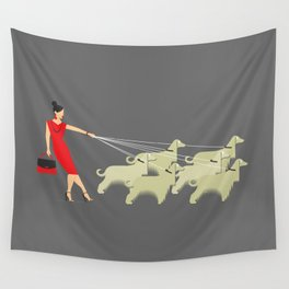 Afghan Lady Wall Tapestry