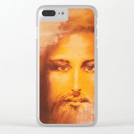 Beautiful Jesus Clear iPhone Case