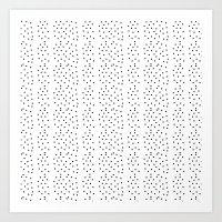 Random Polka ///www.pencilmeinstationery.com Art Print