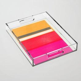 stripe study 1 Acrylic Tray