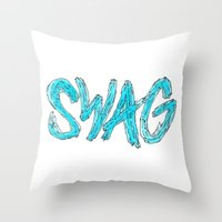 swag Throw Pillows featuring Swag by Creo