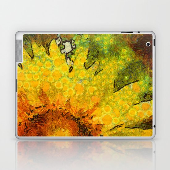 van Gogh styled sunflowers version 3 Laptop & iPad Skin