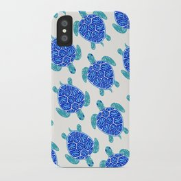 Sea Turtle – Blue Palette iPhone Case