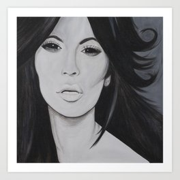 Kim K Art Print