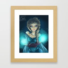 The Cold Never Bothered Me Framed Art Print