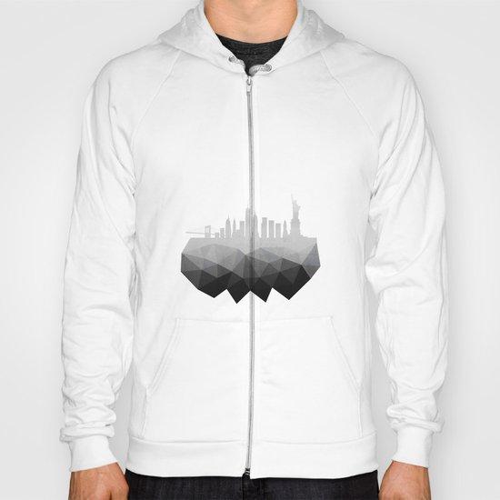New York concrete silhouette Hoody