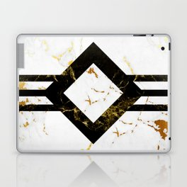 Abstract square golden marble pattern Laptop & iPad Skin