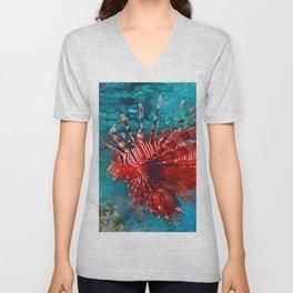 Lion Fish Unisex V-Neck