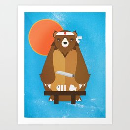 Sushi Bear Art Print