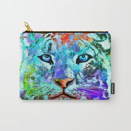Snow Leopard Grunge Carry-All Pouch