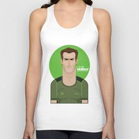murray Tank Tops featuring Andy Murray Tennis Illustration by Gary  Ralphs Illustrations