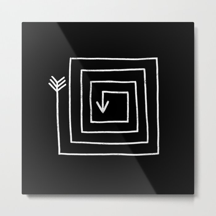 Square Arrow Metal Print