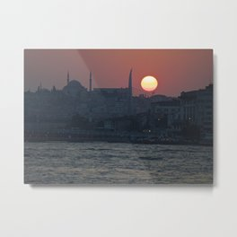 Istanbul Sun Metal Print
