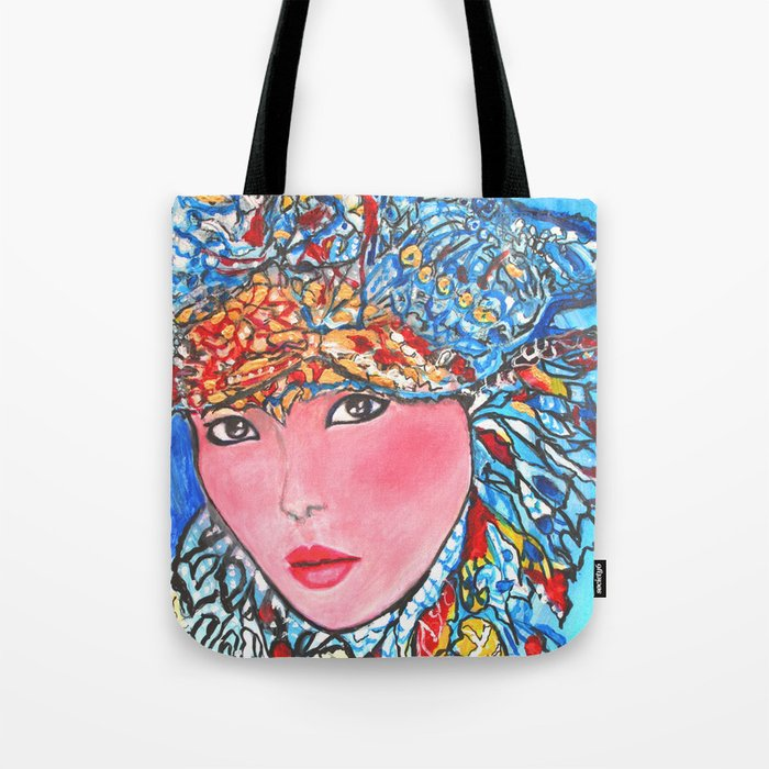 LUNA #society6 #decor #buyart My artwork is featured in MagCloud, Pink Panther Magazine, issue 25 Tote Bag