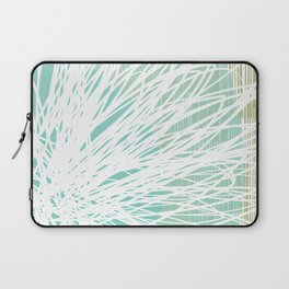 Doodle Flowers in Mint by Friztin Laptop Sleeve
