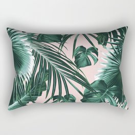 Tropical Jungle Leaves Dream #1 #tropical #decor #art #society6 Rectangular Pillow