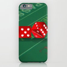 Craps Table & Red Las Vegas Dice Slim Case iPhone 6
