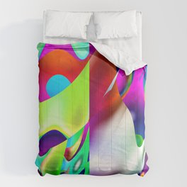 A Funhouse In Abstract Art By Annie Zeno Comforters