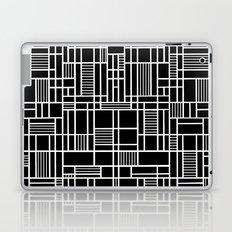 Map Lines Black Laptop & iPad Skin