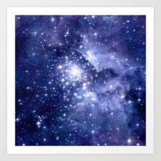 Cobalt Dreams, Stars Galaxies Nebula Universe Art Print