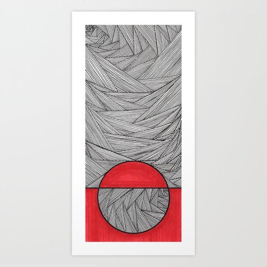 Red Half Art Print